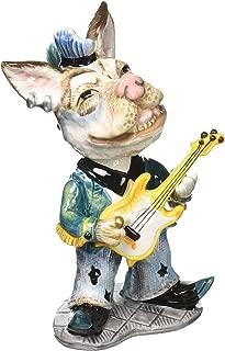 "ATD 61606 6"" ""Ringo"" Rock Star Dog Themed Bobble Head"