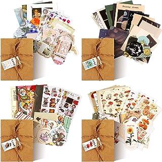 120 Autocollants de Scrapbooking Vintage, Autocollants Journalisation Fournitures de Journal Indésirable Stickers en Papie...