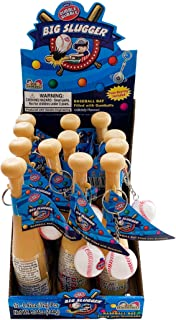Dubble Bubble Gumball Filled Slugger Baseball Bat Keychain Candy Party Favors, 0.42 Ounce, Pack of 12