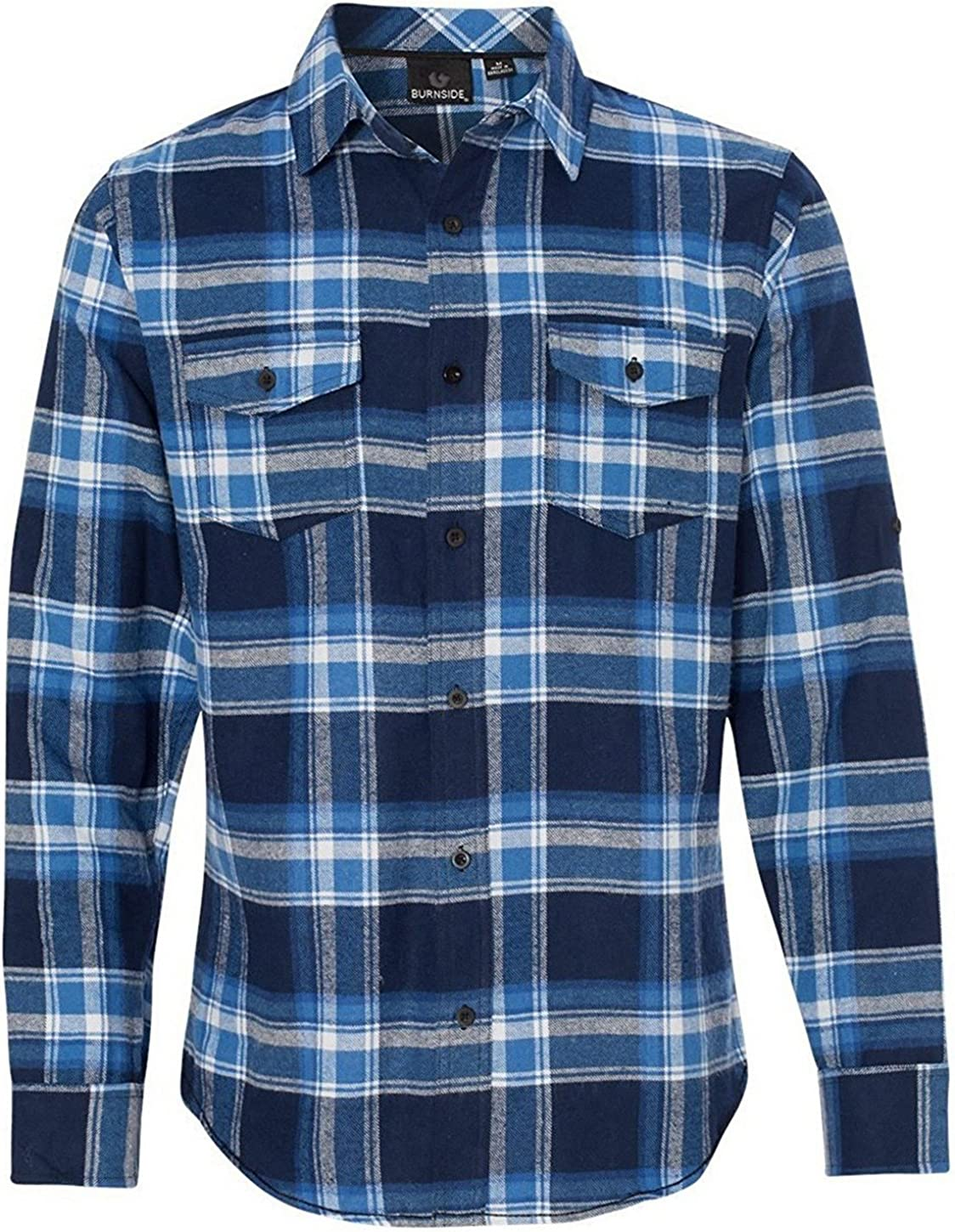 Burnside ! Super beauty product restock quality top! 35% OFF Men's Yarn-Dyed Long Shirt Flannel Sleeve