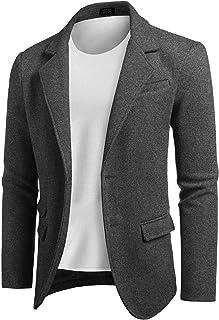 COOFANDY Men's Slim Fit Wool Blazer Jacket Two Button Casual Suit Sport Coat