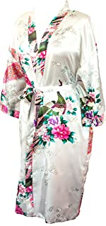 Kimono Robe Long 16 Colors Premium Peacock Bridesmaid Bridal Shower Womens Gift