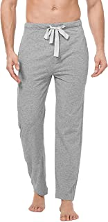Men's Comfy Jersey Cotton Knit Pajama Lounge Sleep Pant in 1/2 Pack