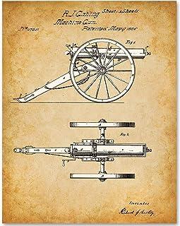 Machine Gun - 11x14 Unframed Patent Print - Makes a Great Gift Under $15 for Gun or Civil War Enthusiasts