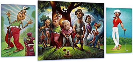 Bushwood. A Tribute To Caddyshack 3 Piece Ensemble Fine Art Print 22