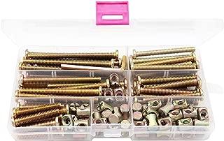 binifimux 100pcs 1//4-20 Zinc Plated Hex Socket Cap Bolts Barrel Nuts Assortment Kit for Crib Baby Bed Cots Chairs