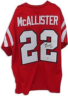 Deuce McAllister Ole Miss Rebels Autographed Red Jersey - APE COA