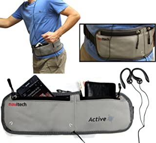 Navitech Grey MP3/MP4 Running/Jogging Water Resistant Sports Belt/Waistband Compatible with The TREKSTOR 79424 i.Beat Move