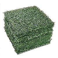 Deals on 12-Pcs AplusChoice Artificial Boxwood Wall Hedge Mat Decor
