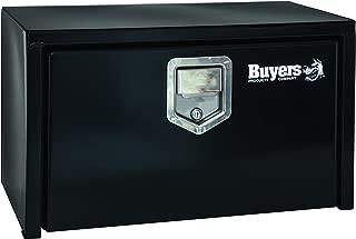 Buyers Products Black Steel Underbody Truck Box w/ Paddle Latch (18x18x36 Inch)