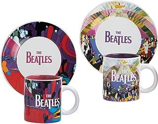 Vandor 73109 The Beatles Yellow Submarine 4 Piece Ceramic Cup and Saucer Set