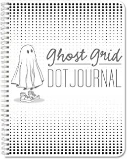 BookFactory Ghost Grid Dot Journal/Large Bullet Notebook 120 Pages 8.5