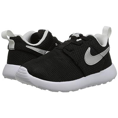 Nike Kids Roshe One (Infant/Toddler) (Black/Metallic Silver/White) Boys Shoes