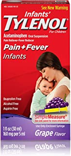 TYLENOL Infants` Oral Suspension Grape Flavor 1 oz