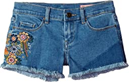 Embroidered Cut Off Shorts in In Bloom (Big Kids)