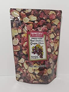 Trader Joe's - Freeze Dried Red Seedless Grape Slices 1.2 Oz 34g