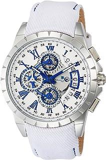 [サルバトーレマーラ]Salvatore Marra メンズ腕時計 クロノグラフ クォーツ レザーベルト SM13119D-SSWHBL/WH メンズ 【正規輸入品】