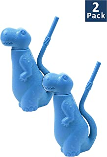 Brite Concepts Dinosaur Shaped Sippy Cup, Plastic, 6-Ounce, Colors Vary, 2-pack