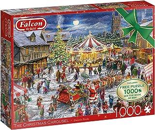Jumbo 11308 The Christmas Carousel-2 x 1 000 bitar pusselspel, flera färger