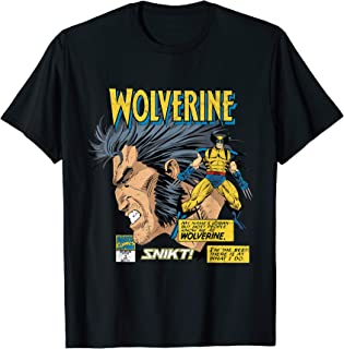 Marvel Comics Wolverine Classic Logan Retro T-Shirt