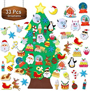 TOBEHIGHER Felt Christmas Tree – 3.5 FT Wall Felt Christmas Tree for Kids with 33..