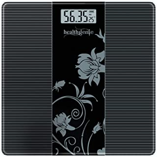 Healthgenie Thick Tempered Glass Lcd Display Digital Weighing Machine , Weight Machine For Human Body Digital Weighing Sca...