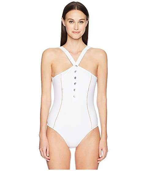 Jonathan Simkhai Classic Button Up One-Piece