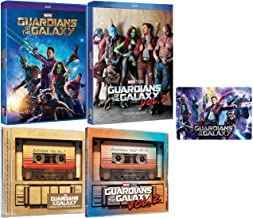 Guardians of the Galaxy: The Complete Movies & Music Collection - DVD Films 1-2 + Awesome Mix CD Volumes 1-2 + Bonus Art Card
