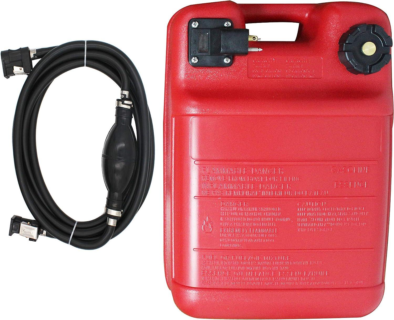 Portable Boat Fuel Tank 24L 6 Gallon Marine Outboard Motor Fuel Tank w/Connector