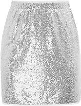 GRACE KARIN Pailletten Rock Damen Minirock Kurz Bleistiftrock CL910