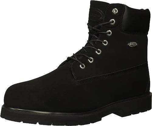 Lugz Men's Drifter 6 Steel Toe Fashion botas, negro Durabrush, 7.5 D US