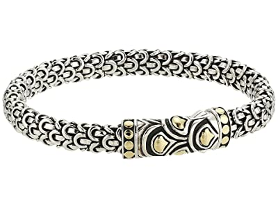 John Hardy Legends Naga 6mm Station Bracelet (Silver/18K Gold) Bracelet
