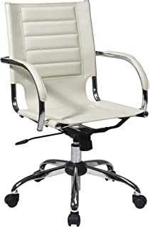 Work Smart/Ave Six TND941A-CRM AVE SIX Trinidad Office Chair, White