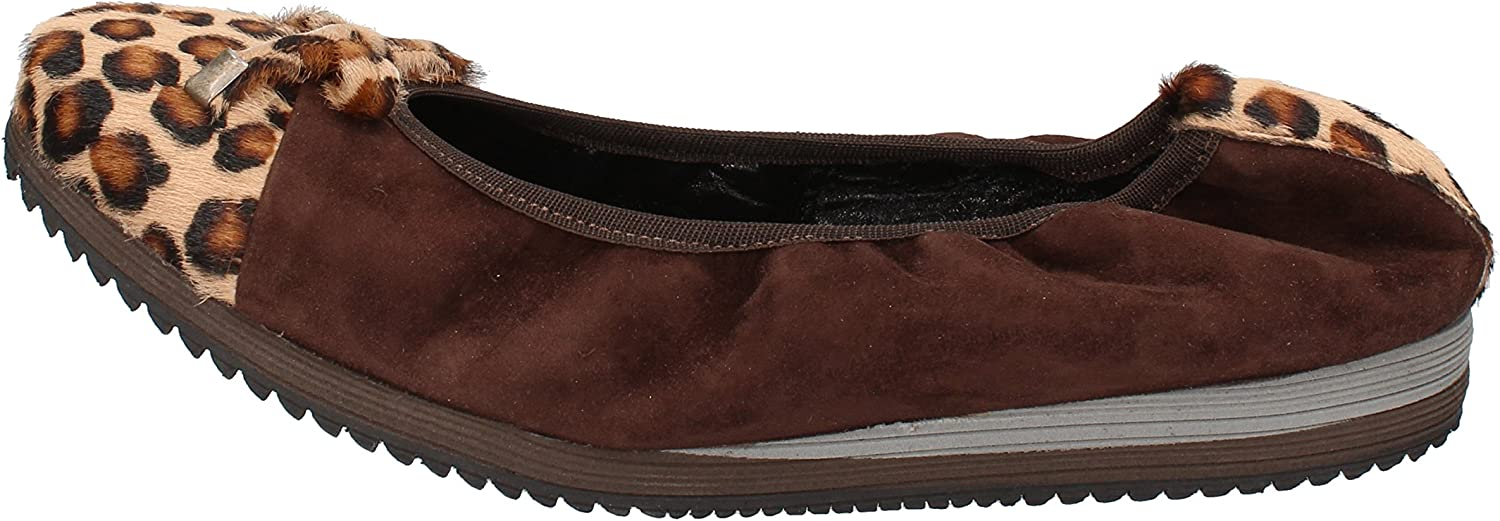 CALPIERRE Flats-shoes Womens Suede Brown