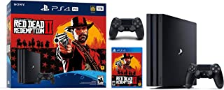 Newest Sony Playstation 4 Pro 2TB HDD Console - Red Dead Redemption 2 Game Bundle with DualShock-4 Wireless Controller, AMD 8 Cores Processor, USB 3.1, HDMI