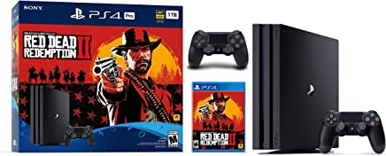 Newest Sony Playstation 4 Pro 1TB SSD Console - Red Dead Redemption 2 Game Bundle with DualShock-4 Wireless Controller, AMD 8 Cores Processor