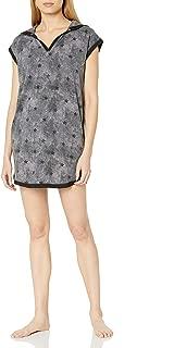 Amazon Brand - Mae Women's Sleepwear Hooded Tunic Sleep Shirt