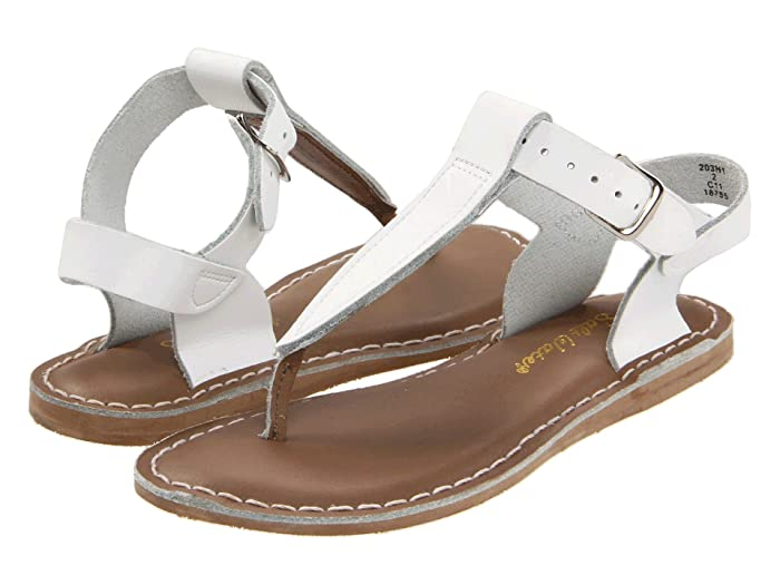 Salt Water Sandal by Hoy Shoes  Sun-San - T-Thongs (Toddler/Little Kid) (White) Girls Shoes