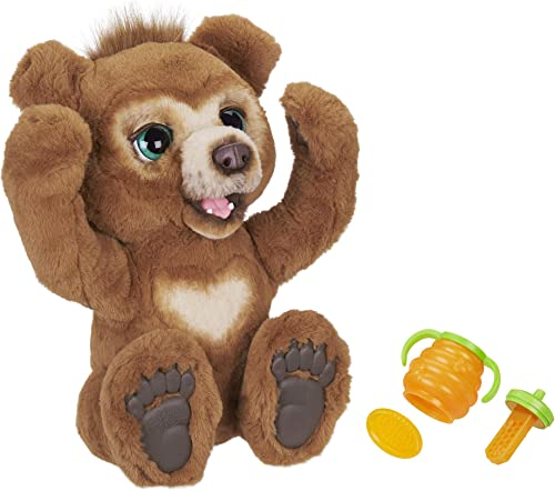 FurReal Friends Peluche Interactive Cubby, l'ours Curieux