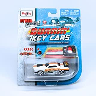 Slayer (White) Burnin' Key Cars Maisto Fresh Metal Car with Classic Key Launcher