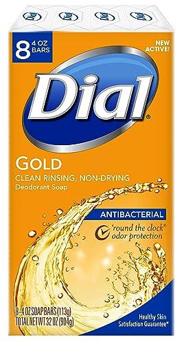 Dial Antibacterial Bar Soap Gold 4 Ounce (Pack of 8) Bars