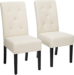 Christopher Knight Home Alexander Natural Fabric Dining Chair (Set of 2), 39.50 inches high x 17.50 inches wide x 25.5 inches deep, Plain