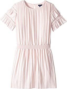 Pleated Metallic Dress (Big Kids)