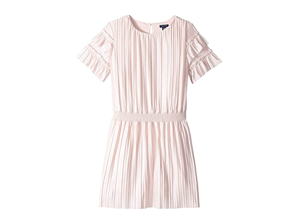Tommy Hilfiger Kids Pleated Metallic Dress (Big Kids) (Crystal Rose) Girl