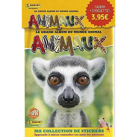 Panini France SA Animaux 2020 - Pack De Démarrage pour Commencer TA Collection - Un Album + 5 Pochettes