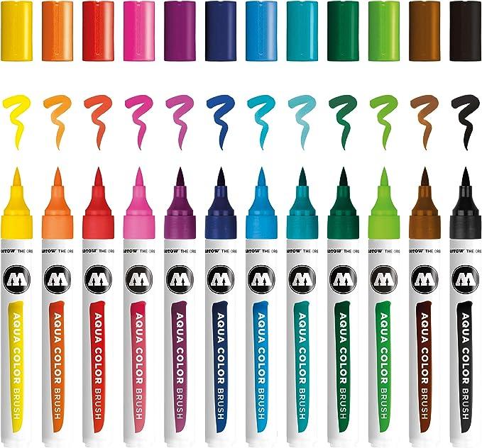 rotuladores aqua color brush molotow