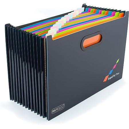 Rapesco 1552 SupaFile Plus Trieur Valisette avec 13 Compartiments de Taille A4+ en Format Paysage