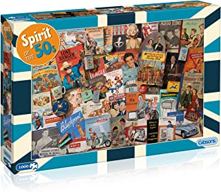 Spirit of the 50s 1000 Piece Jigsaw Puzzle   Sustainable Puzzle for Adults   Premium 100% Recycled Board   Great Gift for ...