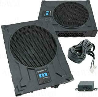 $119 » Gravity GRWF10 10-Inch 1200 Watts Car Audio Under Seat Subwoofer Powerful Loud Speaker Pro Audio Active Aluminum Super Sli...