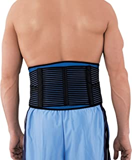 ACE Lumbar, Dual Strap, Stabilizing Deluxe Back Stabilizer , Large/Extra-Large - Black